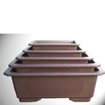 Larger Size Plastic Bonsai Pots - Ovals & Rectangles
