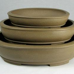 7-12 inch Unglazed Stoneware Bonsai Pots