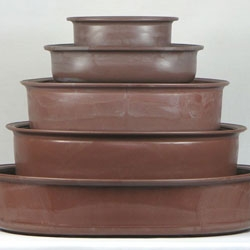 Recycled Plastic Bonsai Pots - Ovals & Rectangles