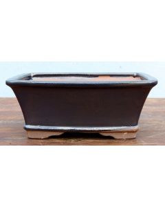 Blue/Grey Glazed Rectangular Bonsai Pot
