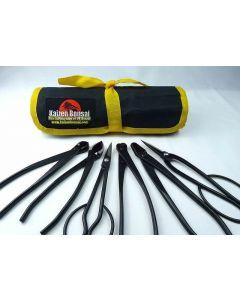 Bonsai Tools Kit - 6 Piece- Small Black Carbon Steel Tools