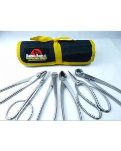 Bonsai Tools Kit - 6 Piece Set of Large Stainless Steel Tools