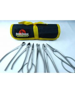 Bonsai Tools Kit - 6 Piece Set of Small Stainless Steel Tools