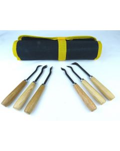 6 Piece Bonsai & Wood Carving Gouges Set