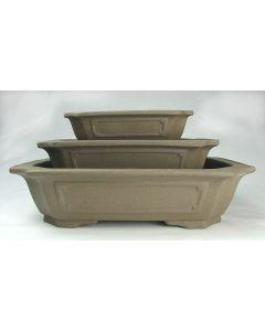 KA-13 Rectangle Unglazed Bonsai Pot
