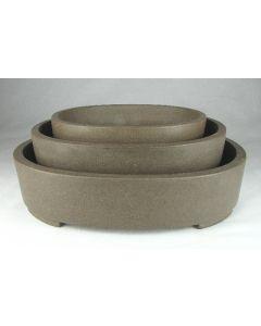 KA-7 Oval Unglazed Bonsai Pots