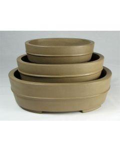 KA-8 Deep Oval Bonsai Pots