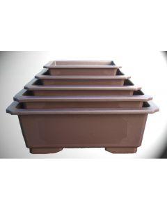 Rectangle Plastic Bonsai Pots - Various Sizes