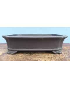 "Unglazed Rectangular Quality Bonsai Pot - 12"""