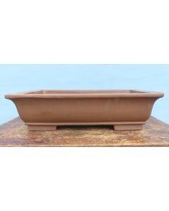 "Japanese Iriya Unglazed Rectangular Bonsai Pot - 18"""