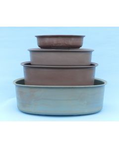 Recycled Plastic Bonsai Pots - Oval - 4 Size Options