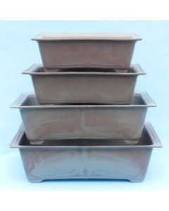 Recycled Plastic Bonsai Pots - Rectangular - 4 Size Options