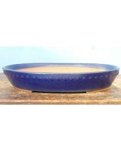 "HIGH QUALITY Oval Glazed Bonsai Pot - 13"""