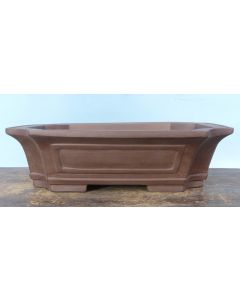 "Unglazed Rectangular Bonsai Pot 14"""