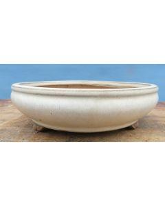 Japanese Round Glazed Bonsai Pot