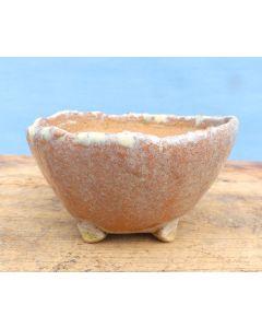 "Olive Green Glazed Oval Bonsai Pot - 14"" - LAST ONE"
