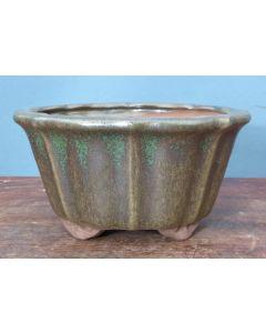 "Glazed Round Bonsai Pot - 5"""