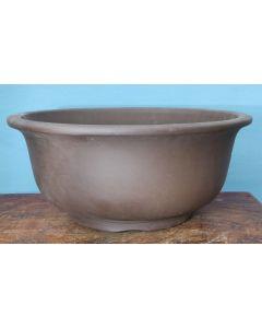 Deep Round Unglazed Bonsai Pot