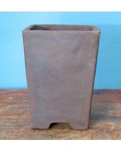 "Bonsai Basics - Square Cascade Style Unglazed Bonsai Basics Pot - 5"""