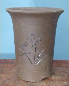 Bonsai Basics - Cascade Style Round Deep Unglazed Bonsai Pot