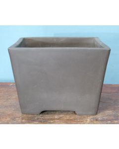 "Bonsai Basics - Square Cascade Style Unglazed Bonsai Basics Pot - 6"""
