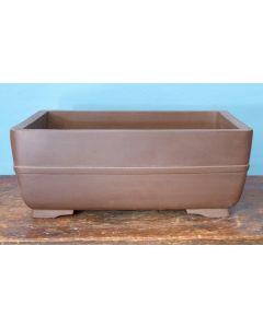 High Quality Unglazed Rectangular Bonsai Pot