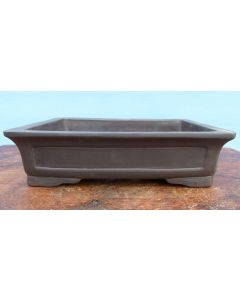 "Quality Unglazed Rectangular Bonsai Pot - 12"""