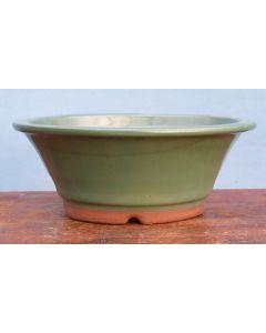 "Japanese High Quality Glazed Round Bonsai Pot - 7.5"""