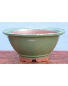 Japanese High Quality Glazed Round Bonsai Pot