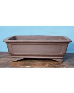 "Bonsai Basics - Oval Unglazed Bonsai Pot - 14"". Colour and finish may vary for the pot pictured."