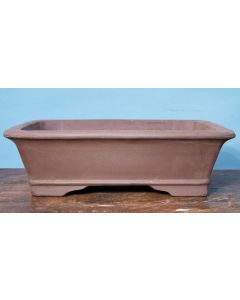 "Bonsai Basics - Rectangular Unglazed Bonsai Pot - 14"". Colour, size and finish may vary somewhat from the pot shown."