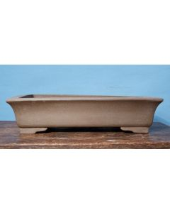 "Copper Glazed Shallow Oval Bonsai Pot - 19"" - SECOND QUALITY"