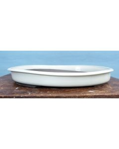 Japanese Glazed Rectangular Bonsai Pot
