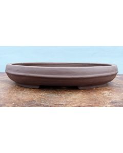 Bonsai Basics - Oval Unglazed Bonsai Pot - 12""