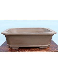"Bonsai Basics - Rectangular Unglazed Bonsai Pot - 19"""