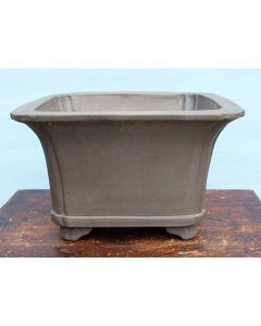 """Bonsai Basics - Deep Square Unglazed Bonsai Pot - 16"""""""