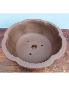 """Bonsai Basics - Round Unglazed Bonsai Pot - 15"""""""