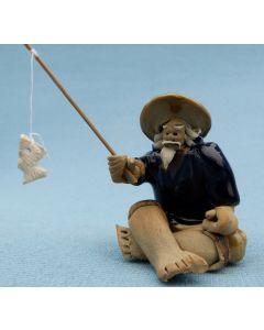 Chinese Shiwan Figure Small Fisherman