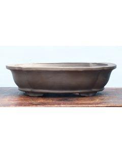 "Bonsai Basics - Oval Unglazed Bonsai Pot - 18"""