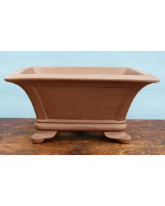 "Deep Rectangular Unglazed Quality Bonsai Pot - 14"""