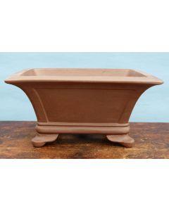 "Deep Rectangular Unglazed Quality Bonsai Pot - 18.5"""