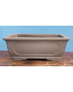 "Bonsai Basics - Rectangular Unglazed Bonsai Pot - 15"""