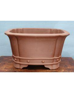 "Deep Square Unglazed Quality Bonsai Pot - 23"""