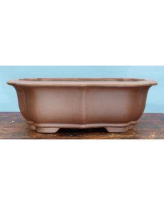"Deep Round Unglazed Quality Bonsai Pot - 14"""
