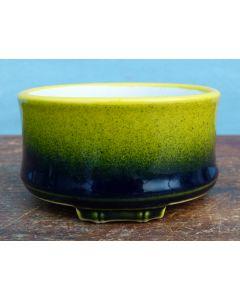 Exhibition Quality Artisan Made Glazed Shohin Bonsai Pot