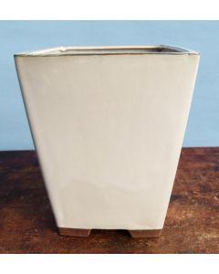 Glazed Square Cascade Style Bonsai Pot - SECOND