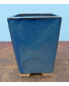 Blue Glazed Cascade Style Bonsai Pot - 5""