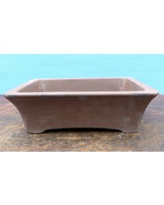 "Bonsai Basics - Rectangular Unglazed Bonsai Pot - 7"" - Being hand made basic quality some finish, colour and size variations, minor distortions and marks can occur."