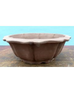 "Bonsai Basics - Round Unglazed Bonsai Pot - 7"" Being hand made basic quality some finish, colour and size variations, minor distortions and marks can occur."