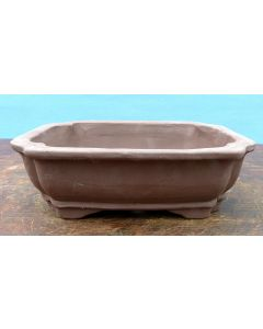 "Bonsai Basics - Rectangular Unglazed Bonsai Pot -7"" - Being hand made basic quality some finish, colour and size variations, minor distortions and marks can occur."